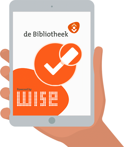 Flyer Bibliotheek Wise app